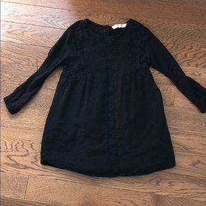 Zara girls black dress size 7 soft collection